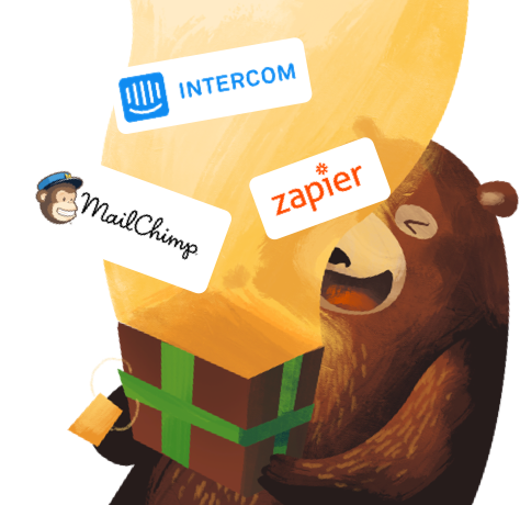 Bear with a box of integrations